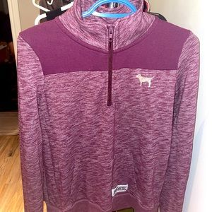 PINK half zip up sweater worn once does not fit.